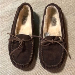 UGG leather moccasins. Size 6. Women's. Excellent!